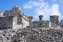 Ancient Mayan building ruins in Tulum, Mexico Stock Images