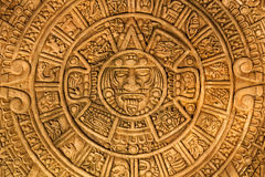Ancient Mayan calendar Stock Photos