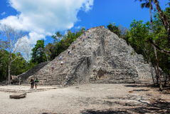 Ancient mayan city Coba in Mexico Royalty Free Stock Photography