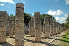 Ancient Mayan Columns Royalty Free Stock Photos