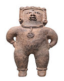 Ancient Mayan figure isolated. Stock Photo