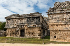 Ancient Mayan governmental palace in Chichen Itza. Ancient Mayan Terminal Classic governmental palace, constructed in the Puuc architectural style decorated with Royalty Free Stock Photography