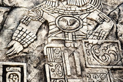 Ancient Mayan hieroglyphics Royalty Free Stock Photo