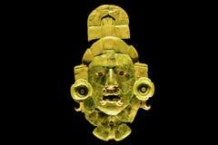 Ancient Mayan Jade Mask royalty free stock photos