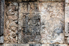 Ancient Mayan murals on the Venus Platform at Chichen Itza Stock Image