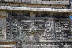 Ancient Mayan Nunnery Carvings Royalty Free Stock Images