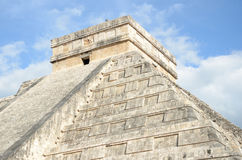 Ancient Mayan pyramid Kukulcan temple in Chichen Itza, Mexico. Royalty Free Stock Photo