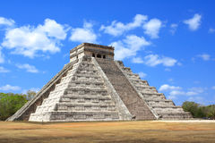 Ancient Mayan pyramid Kukulcan Temple, Chichen Itza, Yucatan, Royalty Free Stock Image