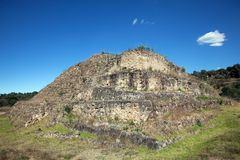 Ancient Mayan pyramid near Cacaxtla Royalty Free Stock Photo