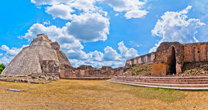Ancient mayan pyramid in Uxmal, Yucatan, Mexico Royalty Free Stock Image