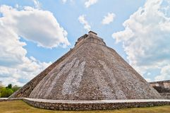 Ancient mayan pyramid in Uxmal, Yucatan, Mexico Royalty Free Stock Photos