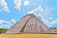 Ancient mayan pyramid in Uxmal, Yucatan, Mexico Stock Photo