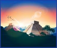 Ancient Mayan pyramids Royalty Free Stock Images