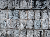 Ancient Mayan Rituals- Skulls of the Sacrificed Royalty Free Stock Photography
