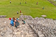 Ancient mayan ruin in Palenque, Chiapas, Mexico Stock Photo