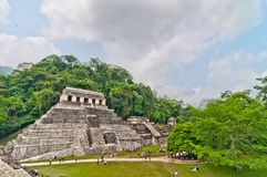 Ancient mayan ruin in Palenque, Chiapas, Mexico Stock Image