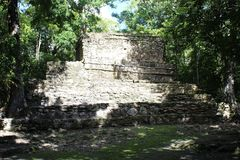 Ancient Mayan ruin in Quintana Roo, Mexico. Ruin of an ancient Mayan building in the jungle of Quintana Roo, Mexico Stock Photography