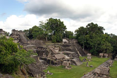 Ancient Mayan ruins. In Tikal Guatemala Stock Photos