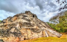 Ancient Mayan ruins at Becan in Mexico stock images