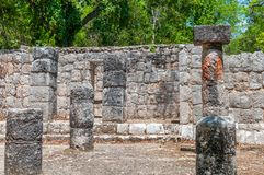 Ancient Mayan Ruins at Chichen Itza,. Yucatan, Mexico Stock Photos