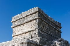 Ruins at the Tulum archaeological site, Quintana Roo, Mexico. Royalty Free Stock Image