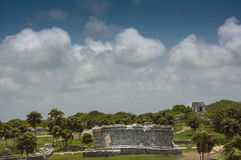 The Ancient Mayan Ruins in Tulum Mexico Royalty Free Stock Images