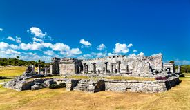 Ancient Mayan ruins at Tulum in Mexico. Ancient Mayan ruins at Tulum in the Quintana Roo State of Mexico royalty free stock image