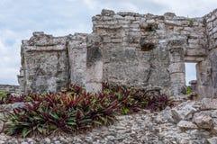 Ancient Mayan Ruins at Tulum, Quintana Roo Stock Photo