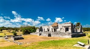 Ancient Mayan ruins at Tulum in Mexico. Ancient Mayan ruins at Tulum in the Quintana Roo State of Mexico royalty free stock photo