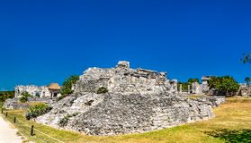 Ancient Mayan ruins at Tulum in Mexico. Ancient Mayan ruins at Tulum in the Quintana Roo State of Mexico stock photography