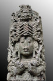 Ancient Mayan sculpture. In the Copan Sculpture Museum Royalty Free Stock Images