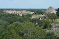 Ancient Mayan site Uxmal, Mexico. Stock Images