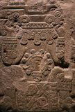 Ancient Mayan stone carving Royalty Free Stock Photo