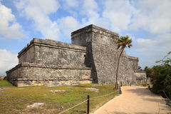 Ancient Mayan stone temple Stock Photography