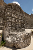An ancient Mayan throne in Mexico Royalty Free Stock Photo