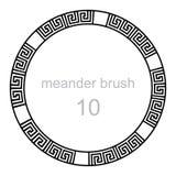 Ancient meander pattern line Stock Image