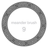 Ancient meander pattern round Royalty Free Stock Photos
