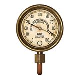 Measuring device vector. Ancient measuring device in the style of steampunk Stock Photos