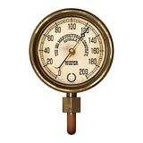 Measuring device vector. Ancient measuring device in the style of steampunk Royalty Free Stock Image