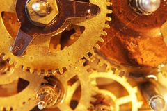 Ancient mechanical gears Royalty Free Stock Image