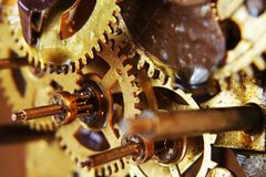 Ancient mechanical gears Stock Images