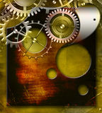 Ancient mechanism with gears. Abstract ancient mechanism with gears royalty free illustration