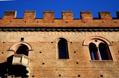 Ancient medieval building in the city center in Bologna in Emilia Romagna (Italy) Royalty Free Stock Photos