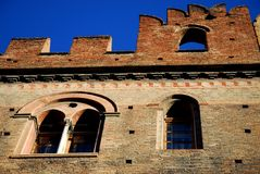 Ancient medieval building in the city center in Bologna in Emilia Romagna (Italy) Stock Images