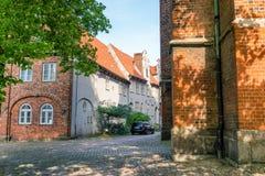 Ancient medieval buildings of Lubeck in summer season, Germany Stock Image