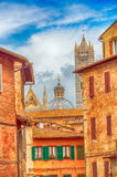 Ancient medieval buildings of Siena, Italy Royalty Free Stock Photo