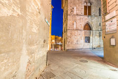 Ancient medieval buildings of Siena, Italy Royalty Free Stock Photography