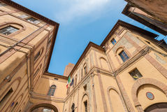 Ancient medieval buildings of Siena, Italy Royalty Free Stock Images