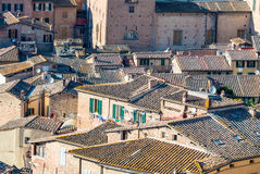 Ancient medieval buildings of Siena, Italy Stock Images