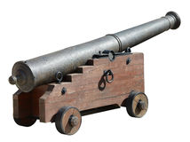 Ancient medieval cannon on wheels Stock Images